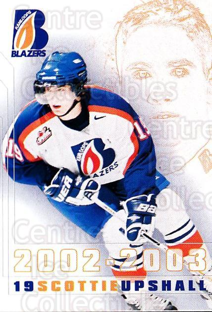 2002-03 Kamloops Blazers #23 Scottie Upshall<br/>2 In Stock - $5.00 each - <a href=https://centericecollectibles.foxycart.com/cart?name=2002-03%20Kamloops%20Blazers%20%2323%20Scottie%20Upshall...&quantity_max=2&price=$5.00&code=751619 class=foxycart> Buy it now! </a>