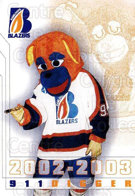 2002-03 Kamloops Blazers #24 Mascot<br/>3 In Stock - $3.00 each - <a href=https://centericecollectibles.foxycart.com/cart?name=2002-03%20Kamloops%20Blazers%20%2324%20Mascot...&quantity_max=3&price=$3.00&code=751620 class=foxycart> Buy it now! </a>
