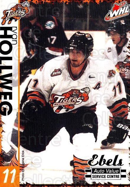 2002-03 Medicine Hat Tigers #9 Ryan Hollweg<br/>1 In Stock - $3.00 each - <a href=https://centericecollectibles.foxycart.com/cart?name=2002-03%20Medicine%20Hat%20Tigers%20%239%20Ryan%20Hollweg...&quantity_max=1&price=$3.00&code=751957 class=foxycart> Buy it now! </a>