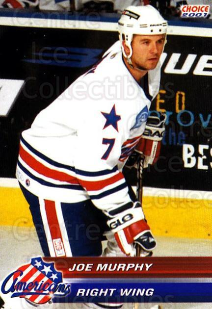 2000-01 Rochester Americans #17 Joe Murphy<br/>1 In Stock - $3.00 each - <a href=https://centericecollectibles.foxycart.com/cart?name=2000-01%20Rochester%20Americans%20%2317%20Joe%20Murphy...&quantity_max=1&price=$3.00&code=752377 class=foxycart> Buy it now! </a>