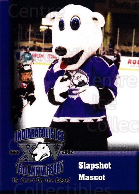 2002-03 Indianapolis Ice #22 Mascot<br/>1 In Stock - $3.00 each - <a href=https://centericecollectibles.foxycart.com/cart?name=2002-03%20Indianapolis%20Ice%20%2322%20Mascot...&quantity_max=1&price=$3.00&code=752538 class=foxycart> Buy it now! </a>