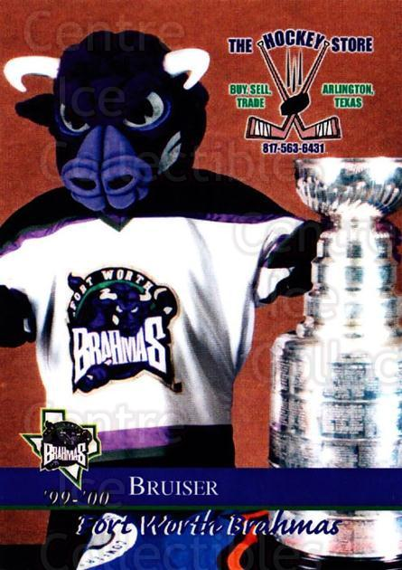 1999-00 Fort Worth Brahmas #3 Mascot<br/>3 In Stock - $3.00 each - <a href=https://centericecollectibles.foxycart.com/cart?name=1999-00%20Fort%20Worth%20Brahmas%20%233%20Mascot...&quantity_max=3&price=$3.00&code=752563 class=foxycart> Buy it now! </a>