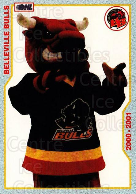 2000-01 Belleville Bulls #28 Mascot<br/>1 In Stock - $3.00 each - <a href=https://centericecollectibles.foxycart.com/cart?name=2000-01%20Belleville%20Bulls%20%2328%20Mascot...&quantity_max=1&price=$3.00&code=752848 class=foxycart> Buy it now! </a>