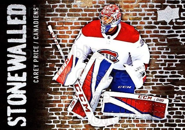 2018-19 Upper Deck Stonewalled #27 Carey Price<br/>1 In Stock - $5.00 each - <a href=https://centericecollectibles.foxycart.com/cart?name=2018-19%20Upper%20Deck%20Stonewalled%20%2327%20Carey%20Price...&quantity_max=1&price=$5.00&code=753045 class=foxycart> Buy it now! </a>