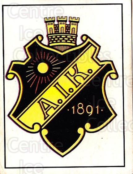 1985-86 Swedish Panini Stickers #1 AIK<br/>1 In Stock - $3.00 each - <a href=https://centericecollectibles.foxycart.com/cart?name=1985-86%20Swedish%20Panini%20Stickers%20%231%20AIK...&quantity_max=1&price=$3.00&code=753289 class=foxycart> Buy it now! </a>