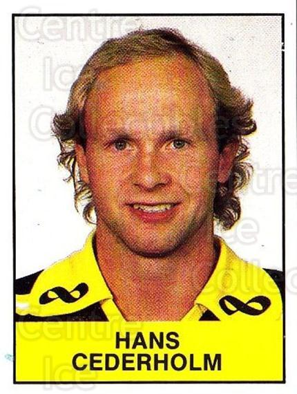 1985-86 Swedish Panini Stickers #7 Hans Cederholm<br/>1 In Stock - $3.00 each - <a href=https://centericecollectibles.foxycart.com/cart?name=1985-86%20Swedish%20Panini%20Stickers%20%237%20Hans%20Cederholm...&quantity_max=1&price=$3.00&code=753295 class=foxycart> Buy it now! </a>