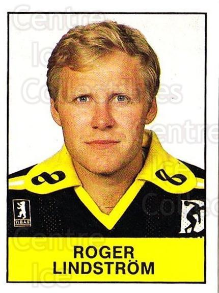 1985-86 Swedish Panini Stickers #12 Roger Lindstrom<br/>1 In Stock - $3.00 each - <a href=https://centericecollectibles.foxycart.com/cart?name=1985-86%20Swedish%20Panini%20Stickers%20%2312%20Roger%20Lindstrom...&quantity_max=1&price=$3.00&code=753300 class=foxycart> Buy it now! </a>
