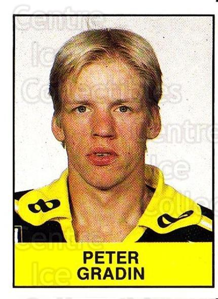 1985-86 Swedish Panini Stickers #16 Peter Gradin<br/>1 In Stock - $3.00 each - <a href=https://centericecollectibles.foxycart.com/cart?name=1985-86%20Swedish%20Panini%20Stickers%20%2316%20Peter%20Gradin...&quantity_max=1&price=$3.00&code=753304 class=foxycart> Buy it now! </a>
