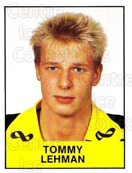 1985-86 Swedish Panini Stickers #19 Tommy Lehman<br/>1 In Stock - $3.00 each - <a href=https://centericecollectibles.foxycart.com/cart?name=1985-86%20Swedish%20Panini%20Stickers%20%2319%20Tommy%20Lehman...&quantity_max=1&price=$3.00&code=753307 class=foxycart> Buy it now! </a>