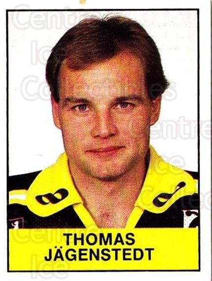 1985-86 Swedish Panini Stickers #20 Thomas Jagenstedt<br/>1 In Stock - $3.00 each - <a href=https://centericecollectibles.foxycart.com/cart?name=1985-86%20Swedish%20Panini%20Stickers%20%2320%20Thomas%20Jagenste...&quantity_max=1&price=$3.00&code=753308 class=foxycart> Buy it now! </a>