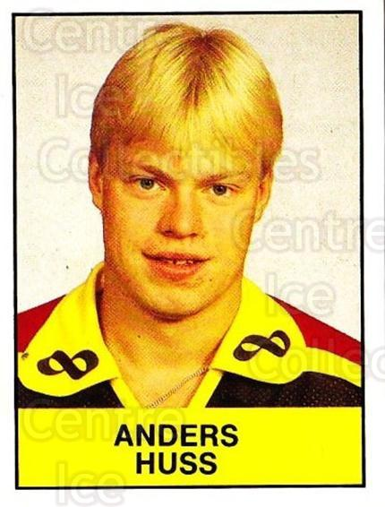 1985-86 Swedish Panini Stickers #66 Anders Huss<br/>1 In Stock - $3.00 each - <a href=https://centericecollectibles.foxycart.com/cart?name=1985-86%20Swedish%20Panini%20Stickers%20%2366%20Anders%20Huss...&quantity_max=1&price=$3.00&code=753354 class=foxycart> Buy it now! </a>