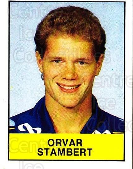 1985-86 Swedish Panini Stickers #71 Orvar Stambert<br/>1 In Stock - $3.00 each - <a href=https://centericecollectibles.foxycart.com/cart?name=1985-86%20Swedish%20Panini%20Stickers%20%2371%20Orvar%20Stambert...&quantity_max=1&price=$3.00&code=753359 class=foxycart> Buy it now! </a>