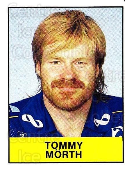 1985-86 Swedish Panini Stickers #82 Tommy Morth<br/>1 In Stock - $3.00 each - <a href=https://centericecollectibles.foxycart.com/cart?name=1985-86%20Swedish%20Panini%20Stickers%20%2382%20Tommy%20Morth...&quantity_max=1&price=$3.00&code=753370 class=foxycart> Buy it now! </a>
