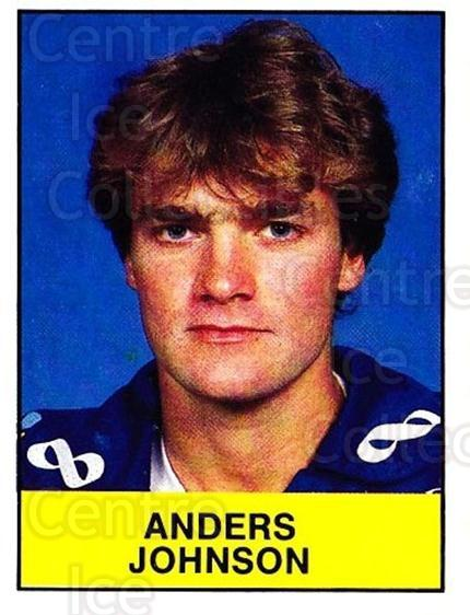 1985-86 Swedish Panini Stickers #85 Anders Johnson<br/>1 In Stock - $3.00 each - <a href=https://centericecollectibles.foxycart.com/cart?name=1985-86%20Swedish%20Panini%20Stickers%20%2385%20Anders%20Johnson...&quantity_max=1&price=$3.00&code=753373 class=foxycart> Buy it now! </a>