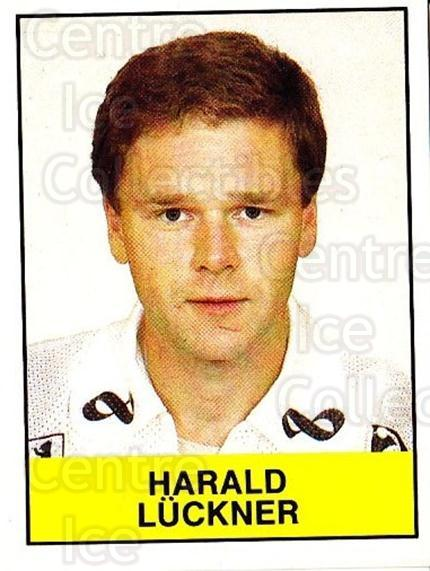 1985-86 Swedish Panini Stickers #99 Harald Luckner<br/>1 In Stock - $3.00 each - <a href=https://centericecollectibles.foxycart.com/cart?name=1985-86%20Swedish%20Panini%20Stickers%20%2399%20Harald%20Luckner...&quantity_max=1&price=$3.00&code=753387 class=foxycart> Buy it now! </a>