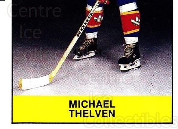 1985-86 Swedish Panini Stickers #124 Michael Thelven<br/>1 In Stock - $3.00 each - <a href=https://centericecollectibles.foxycart.com/cart?name=1985-86%20Swedish%20Panini%20Stickers%20%23124%20Michael%20Thelven...&quantity_max=1&price=$3.00&code=753412 class=foxycart> Buy it now! </a>