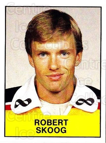 1985-86 Swedish Panini Stickers #156 Robert Skoog<br/>1 In Stock - $3.00 each - <a href=https://centericecollectibles.foxycart.com/cart?name=1985-86%20Swedish%20Panini%20Stickers%20%23156%20Robert%20Skoog...&quantity_max=1&price=$3.00&code=753444 class=foxycart> Buy it now! </a>