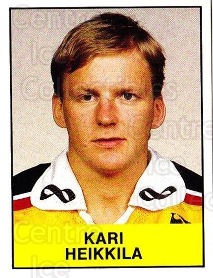 1985-86 Swedish Panini Stickers #161 Kari Heikkila<br/>1 In Stock - $3.00 each - <a href=https://centericecollectibles.foxycart.com/cart?name=1985-86%20Swedish%20Panini%20Stickers%20%23161%20Kari%20Heikkila...&quantity_max=1&price=$3.00&code=753449 class=foxycart> Buy it now! </a>
