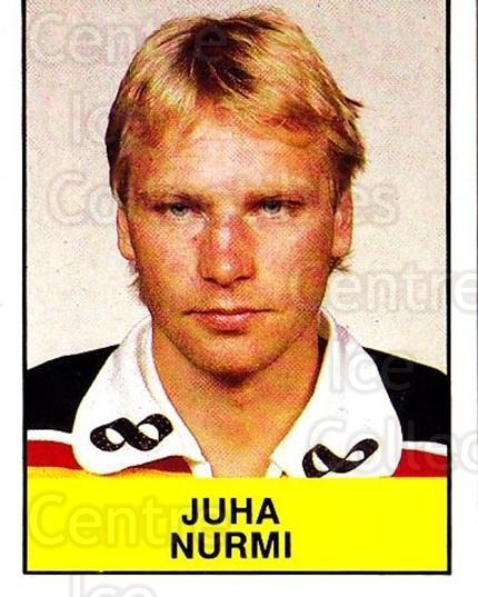 1985-86 Swedish Panini Stickers #169 Juha Nurmi<br/>1 In Stock - $3.00 each - <a href=https://centericecollectibles.foxycart.com/cart?name=1985-86%20Swedish%20Panini%20Stickers%20%23169%20Juha%20Nurmi...&quantity_max=1&price=$3.00&code=753457 class=foxycart> Buy it now! </a>