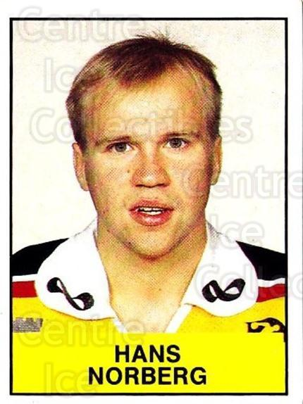 1985-86 Swedish Panini Stickers #174 Hans Norberg<br/>1 In Stock - $3.00 each - <a href=https://centericecollectibles.foxycart.com/cart?name=1985-86%20Swedish%20Panini%20Stickers%20%23174%20Hans%20Norberg...&quantity_max=1&price=$3.00&code=753462 class=foxycart> Buy it now! </a>
