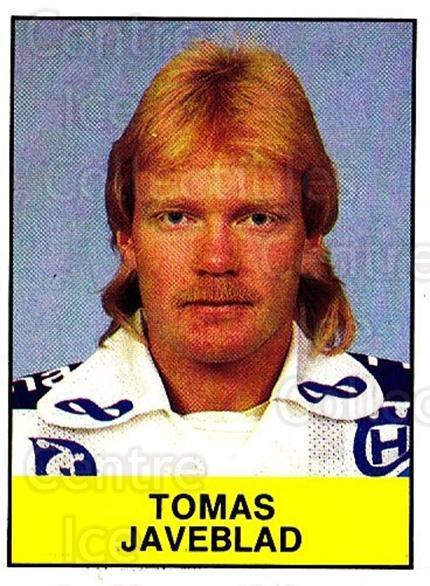 1985-86 Swedish Panini Stickers #178 Tomas Javeblad<br/>1 In Stock - $3.00 each - <a href=https://centericecollectibles.foxycart.com/cart?name=1985-86%20Swedish%20Panini%20Stickers%20%23178%20Tomas%20Javeblad...&quantity_max=1&price=$3.00&code=753466 class=foxycart> Buy it now! </a>