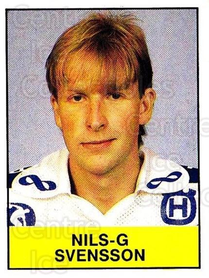 1985-86 Swedish Panini Stickers #179 Nils-G Svensson<br/>1 In Stock - $3.00 each - <a href=https://centericecollectibles.foxycart.com/cart?name=1985-86%20Swedish%20Panini%20Stickers%20%23179%20Nils-G%20Svensson...&quantity_max=1&price=$3.00&code=753467 class=foxycart> Buy it now! </a>