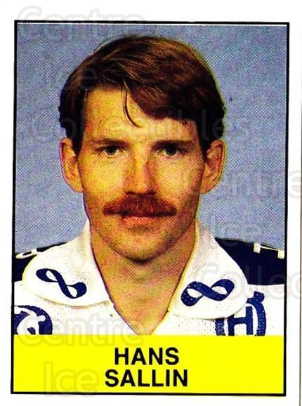 1985-86 Swedish Panini Stickers #186 Hans Sallin<br/>1 In Stock - $3.00 each - <a href=https://centericecollectibles.foxycart.com/cart?name=1985-86%20Swedish%20Panini%20Stickers%20%23186%20Hans%20Sallin...&quantity_max=1&price=$3.00&code=753474 class=foxycart> Buy it now! </a>