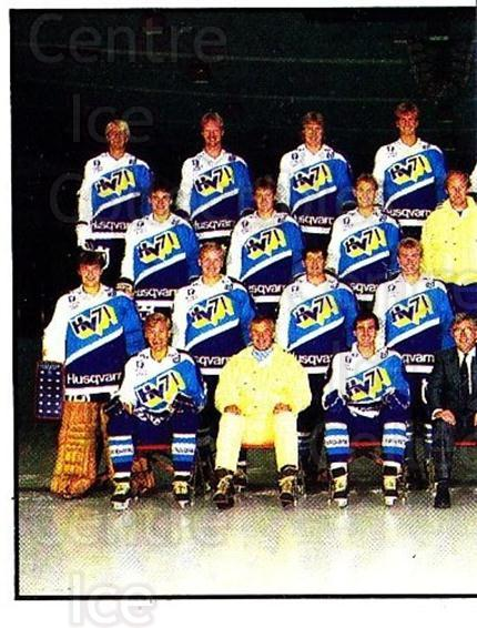 1985-86 Swedish Panini Stickers #187 HV71, Team Photo<br/>1 In Stock - $3.00 each - <a href=https://centericecollectibles.foxycart.com/cart?name=1985-86%20Swedish%20Panini%20Stickers%20%23187%20HV71,%20Team%20Phot...&quantity_max=1&price=$3.00&code=753475 class=foxycart> Buy it now! </a>