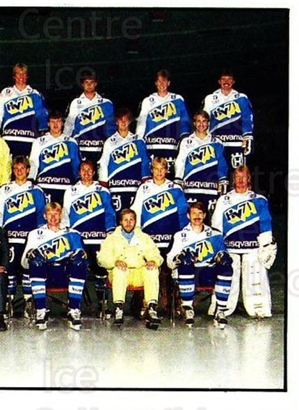 1985-86 Swedish Panini Stickers #188 HV71, Team Photo<br/>1 In Stock - $3.00 each - <a href=https://centericecollectibles.foxycart.com/cart?name=1985-86%20Swedish%20Panini%20Stickers%20%23188%20HV71,%20Team%20Phot...&quantity_max=1&price=$3.00&code=753476 class=foxycart> Buy it now! </a>