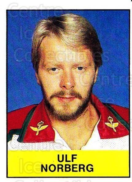 1985-86 Swedish Panini Stickers #208 Ulf Norberg<br/>1 In Stock - $3.00 each - <a href=https://centericecollectibles.foxycart.com/cart?name=1985-86%20Swedish%20Panini%20Stickers%20%23208%20Ulf%20Norberg...&quantity_max=1&price=$3.00&code=753496 class=foxycart> Buy it now! </a>
