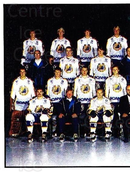 1985-86 Swedish Panini Stickers #231 Sodertalje, Team Photo<br/>1 In Stock - $3.00 each - <a href=https://centericecollectibles.foxycart.com/cart?name=1985-86%20Swedish%20Panini%20Stickers%20%23231%20Sodertalje,%20Tea...&quantity_max=1&price=$3.00&code=753519 class=foxycart> Buy it now! </a>