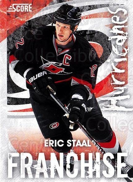 2010-11 Score Franchise #6 Eric Staal<br/>2 In Stock - $3.00 each - <a href=https://centericecollectibles.foxycart.com/cart?name=2010-11%20Score%20Franchise%20%236%20Eric%20Staal...&quantity_max=2&price=$3.00&code=753947 class=foxycart> Buy it now! </a>