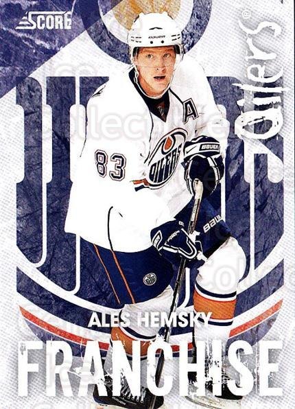 2010-11 Score Franchise #12 Ales Hemsky<br/>1 In Stock - $3.00 each - <a href=https://centericecollectibles.foxycart.com/cart?name=2010-11%20Score%20Franchise%20%2312%20Ales%20Hemsky...&quantity_max=1&price=$3.00&code=753953 class=foxycart> Buy it now! </a>