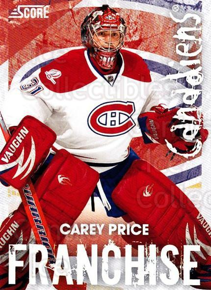 2010-11 Score Franchise #16 Carey Price<br/>1 In Stock - $5.00 each - <a href=https://centericecollectibles.foxycart.com/cart?name=2010-11%20Score%20Franchise%20%2316%20Carey%20Price...&quantity_max=1&price=$5.00&code=753957 class=foxycart> Buy it now! </a>