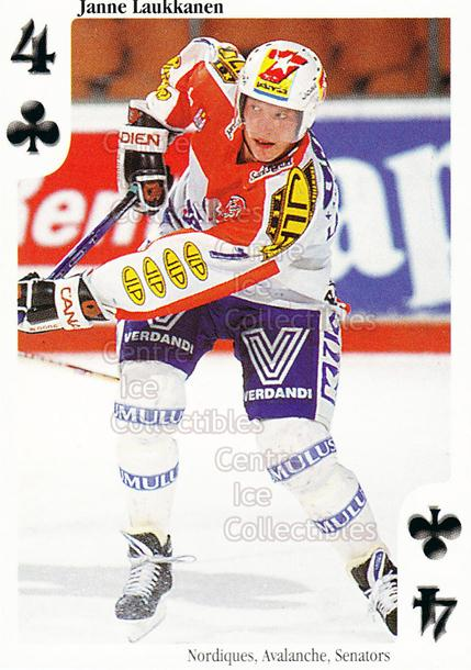 1999-00 Finnish Cardset Aces High Playing Card #3 Janne Laukkanen<br/>13 In Stock - $2.00 each - <a href=https://centericecollectibles.foxycart.com/cart?name=1999-00%20Finnish%20Cardset%20Aces%20High%20Playing%20Card%20%233%20Janne%20Laukkanen...&quantity_max=13&price=$2.00&code=75439 class=foxycart> Buy it now! </a>