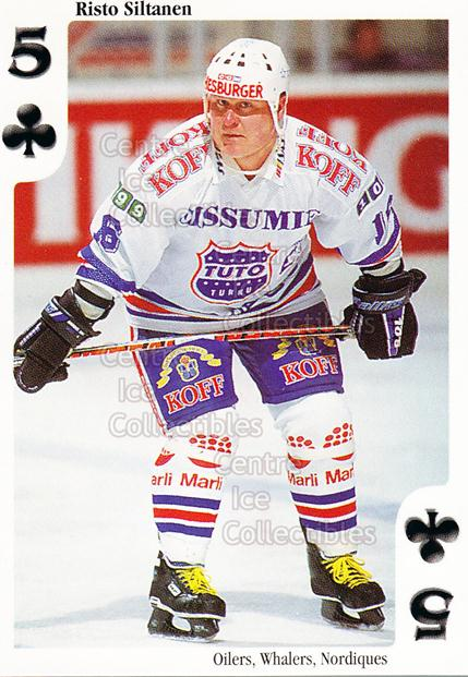 1999-00 Finnish Cardset Aces High Playing Card #4 Risto Siltanen<br/>14 In Stock - $2.00 each - <a href=https://centericecollectibles.foxycart.com/cart?name=1999-00%20Finnish%20Cardset%20Aces%20High%20Playing%20Card%20%234%20Risto%20Siltanen...&price=$2.00&code=75440 class=foxycart> Buy it now! </a>