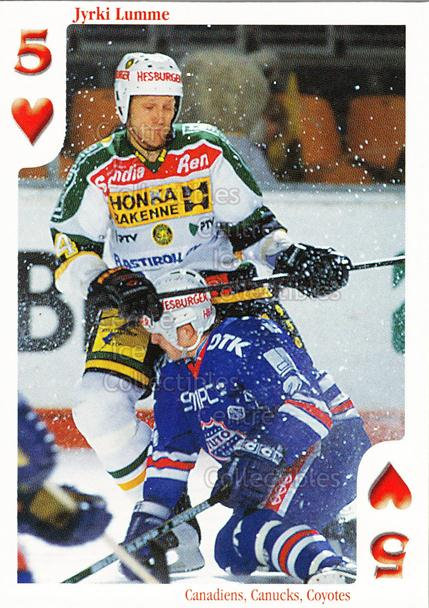 1999-00 Finnish Cardset Aces High Playing Card #43 Jyrki Lumme<br/>14 In Stock - $2.00 each - <a href=https://centericecollectibles.foxycart.com/cart?name=1999-00%20Finnish%20Cardset%20Aces%20High%20Playing%20Card%20%2343%20Jyrki%20Lumme...&quantity_max=14&price=$2.00&code=75466 class=foxycart> Buy it now! </a>