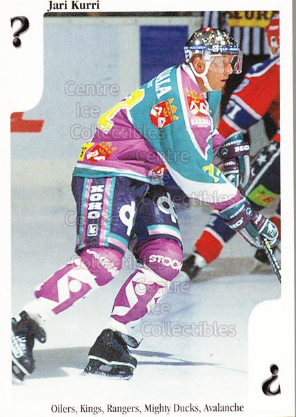 1999-00 Finnish Cardset Aces High Playing Card #53 Jari Kurri<br/>10 In Stock - $3.00 each - <a href=https://centericecollectibles.foxycart.com/cart?name=1999-00%20Finnish%20Cardset%20Aces%20High%20Playing%20Card%20%2353%20Jari%20Kurri...&quantity_max=10&price=$3.00&code=75473 class=foxycart> Buy it now! </a>