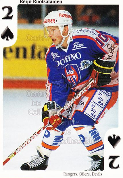 1999-00 Finnish Cardset Aces High Playing Card #27 Reijo Ruotsalainen<br/>6 In Stock - $2.00 each - <a href=https://centericecollectibles.foxycart.com/cart?name=1999-00%20Finnish%20Cardset%20Aces%20High%20Playing%20Card%20%2327%20Reijo%20Ruotsalai...&quantity_max=6&price=$2.00&code=75475 class=foxycart> Buy it now! </a>