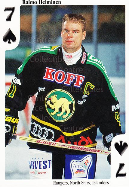 1999-00 Finnish Cardset Aces High Playing Card #32 Raimo Helminen<br/>7 In Stock - $2.00 each - <a href=https://centericecollectibles.foxycart.com/cart?name=1999-00%20Finnish%20Cardset%20Aces%20High%20Playing%20Card%20%2332%20Raimo%20Helminen...&price=$2.00&code=75479 class=foxycart> Buy it now! </a>