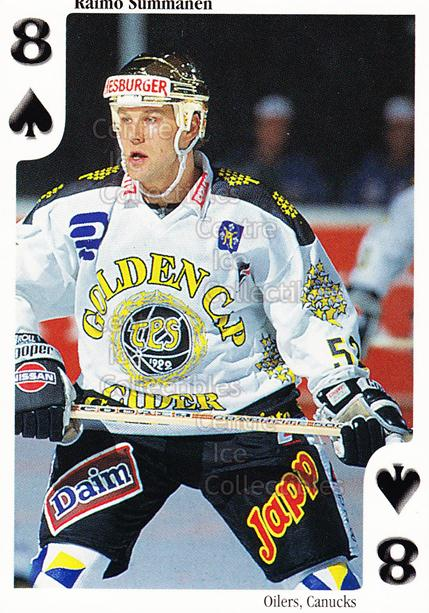 1999-00 Finnish Cardset Aces High Playing Card #33 Raimo Summanen<br/>16 In Stock - $2.00 each - <a href=https://centericecollectibles.foxycart.com/cart?name=1999-00%20Finnish%20Cardset%20Aces%20High%20Playing%20Card%20%2333%20Raimo%20Summanen...&price=$2.00&code=75480 class=foxycart> Buy it now! </a>