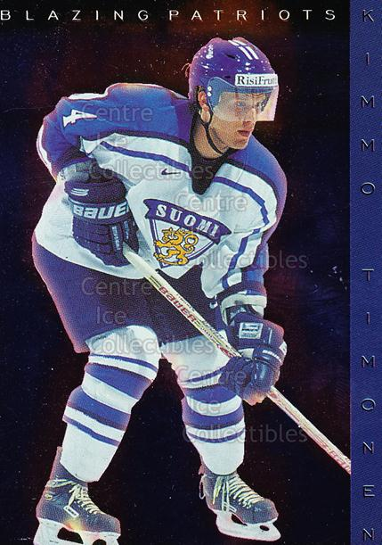 1999-00 Finnish Cardset Blazing Patriots #3 Kimmo Timonen<br/>2 In Stock - $3.00 each - <a href=https://centericecollectibles.foxycart.com/cart?name=1999-00%20Finnish%20Cardset%20Blazing%20Patriots%20%233%20Kimmo%20Timonen...&quantity_max=2&price=$3.00&code=75486 class=foxycart> Buy it now! </a>