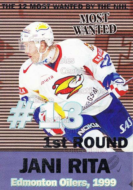 1999-00 Finnish Cardset Most Wanted #5 Jani Rita<br/>12 In Stock - $3.00 each - <a href=https://centericecollectibles.foxycart.com/cart?name=1999-00%20Finnish%20Cardset%20Most%20Wanted%20%235%20Jani%20Rita...&price=$3.00&code=75493 class=foxycart> Buy it now! </a>