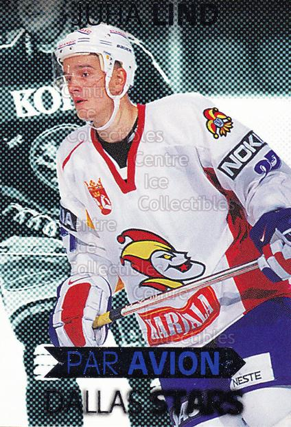 1999-00 Finnish Cardset Par Avion #5 Juha Lind<br/>9 In Stock - $3.00 each - <a href=https://centericecollectibles.foxycart.com/cart?name=1999-00%20Finnish%20Cardset%20Par%20Avion%20%235%20Juha%20Lind...&price=$3.00&code=75498 class=foxycart> Buy it now! </a>