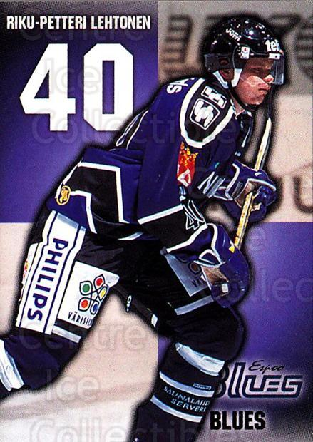 1999-00 Finnish Cardset #10 Riku-Petteri Lehtonen<br/>4 In Stock - $2.00 each - <a href=https://centericecollectibles.foxycart.com/cart?name=1999-00%20Finnish%20Cardset%20%2310%20Riku-Petteri%20Le...&quantity_max=4&price=$2.00&code=75509 class=foxycart> Buy it now! </a>