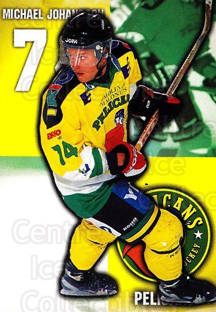 1999-00 Finnish Cardset #100 Michael Johansson<br/>7 In Stock - $2.00 each - <a href=https://centericecollectibles.foxycart.com/cart?name=1999-00%20Finnish%20Cardset%20%23100%20Michael%20Johanss...&quantity_max=7&price=$2.00&code=75510 class=foxycart> Buy it now! </a>