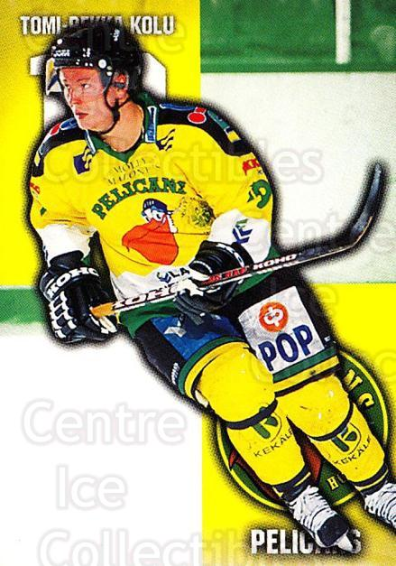 1999-00 Finnish Cardset #101 Tomi-Pekka Kolu<br/>6 In Stock - $2.00 each - <a href=https://centericecollectibles.foxycart.com/cart?name=1999-00%20Finnish%20Cardset%20%23101%20Tomi-Pekka%20Kolu...&quantity_max=6&price=$2.00&code=75511 class=foxycart> Buy it now! </a>