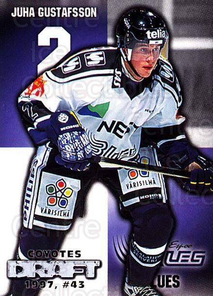 1999-00 Finnish Cardset #11 Juha Gustafsson<br/>5 In Stock - $2.00 each - <a href=https://centericecollectibles.foxycart.com/cart?name=1999-00%20Finnish%20Cardset%20%2311%20Juha%20Gustafsson...&quantity_max=5&price=$2.00&code=75520 class=foxycart> Buy it now! </a>
