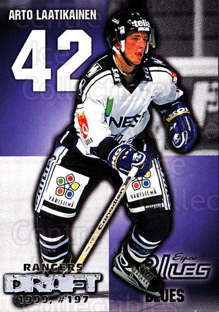 1999-00 Finnish Cardset #12 Arto Laatikainen<br/>7 In Stock - $2.00 each - <a href=https://centericecollectibles.foxycart.com/cart?name=1999-00%20Finnish%20Cardset%20%2312%20Arto%20Laatikaine...&quantity_max=7&price=$2.00&code=75531 class=foxycart> Buy it now! </a>