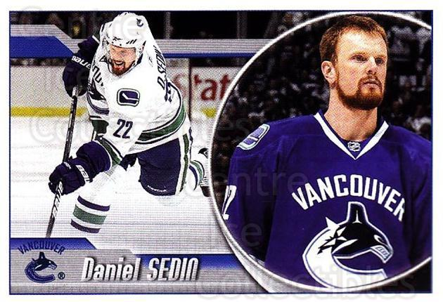 2010-11 Panini Stickers #299 Daniel Sedin<br/>2 In Stock - $1.00 each - <a href=https://centericecollectibles.foxycart.com/cart?name=2010-11%20Panini%20Stickers%20%23299%20Daniel%20Sedin...&quantity_max=2&price=$1.00&code=755358 class=foxycart> Buy it now! </a>